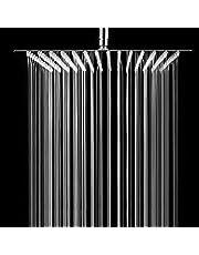 ANMEX® 12x12 (12inch) UltraSlim Stailness Steel Heavy Rain Shower Head with 24inch Arm (Silver, Chrome Finish)