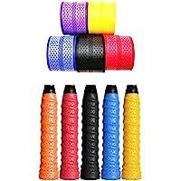 Emm Emm Finest PU Badminton/Tennis Over Grips (Black, Red/Blue/Black/Purple/Pink/Cyan/Yellow)