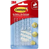 Command 17026CLR_ES Decorating Clips, clear color. 20 clips and 24 strips/pack, Decorate Damage-Free