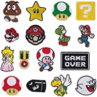 Meetlight Iron On Patches, Super Mario Bros Videogiochi Patch applique ricamate Kit cucire patch per abbigliamento…
