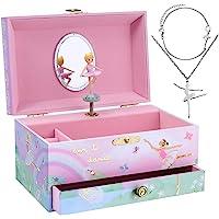Jewelkeeper - Carillon portagioielli con Ballerina e Set di Gioielli per Bambine - 3 Regali a Tema Ballerina per Ragazze