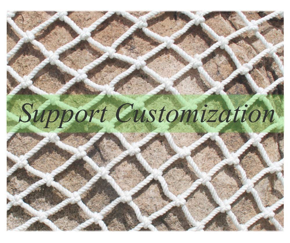 """Protective Netting,Balcony Safety Baby Banister Child Stair Stairs Dog Rail Pet Mesh Net Railing Guard Block for Gate Kids Lacrosse Softball Archery Netted Golf Ball Goal Backstop Net Netting Nets  ★Material of the kids protective netting: pure polyester. ★Mesh size*rope diameter: 8cm*6mm(3""""*15/64) , 8cm*8mm(3""""*5/16).Length*width: please make purchase according to your actual needs.We have any other size (rope diameter, mesh, length * width) rope net, support customization.If you have any questions or needs, please contact us. ★Multi-use protection net:family balcony and railing balcony stairs safety net banister stair anti-cat climbing, anti-high fall and other intensive protection; wall ,home, theme party hotel, guesthouse, cafe, bookshop, restaurant, decoration,hanging ect. 1"""