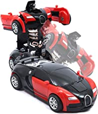 ZZ ZONEX Toys Friction Family Transformer Toy Racing Car - Manually Convert from CAR to Robot ( Random Colour )
