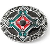 LKMY Western American Indian Style,Novelty Flower Oval Belt Buckle