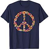 Peace Love Tenue Hippie Flower Power Années 60 70 T-Shirt