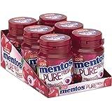 Mentos Gum Pure Fresh Cherry 6 x 30pcs - suikervrije kauwgom verpakking van 6 potjes met 30 kauwgoms, kersensmaak groene thee
