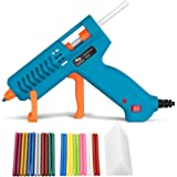 60W Hot Glue Gun, Tilswall Mini Melt Gun Electric Heats Up Quickly with 60pcs 130mm Glue Sticks, 3 Patents Design, ON-Off Swi