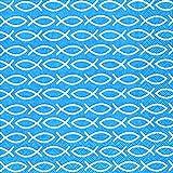 20 Servietten Fische religiös blau / Konfirmation / Kommunion / Taufe 33x33cm