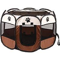 Octagonal Pet Playpen Scratch Resistant Pet Playpen for Pregnant or Injured Cat Foldable Portable Pet Exercise Tents Dog…
