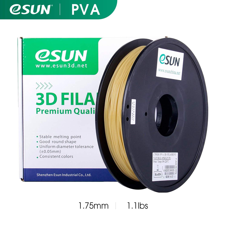 Esun 3d Impression Filament PVA (soluble dans l'eau en charge) Naturel 0.5kg pour imprimantes 3d
