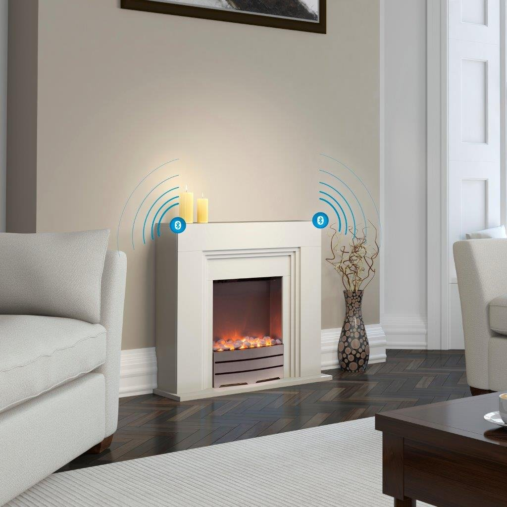 warmlite wl45013 canterbury fireplace suite with led flame effect