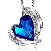 CDE Collier Coeur en Or Rose pour Femme avec Emballage Cadeau, Pendentif Coeur d'amour Cadeau de Bijoux pour le jour de…