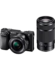 Sony Alpha A6000Y 24.3MP Digital SLR Camera (Black) + 16-50mm Lens + 55-210mm Lens, 16GB Memory Card + Micro HDMI Cable Inside and Camera Bag
