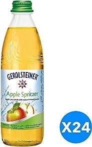 Gerolsteiner Apple Spritzer in Glass bottle - 330ml (Pack of 24)