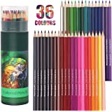Colouring Pencils, 36 Pcs Professional Coloured Pencils Drawing Pencils, Oil-based Artist Pencil Set, No Wax, Ideal for Sketc