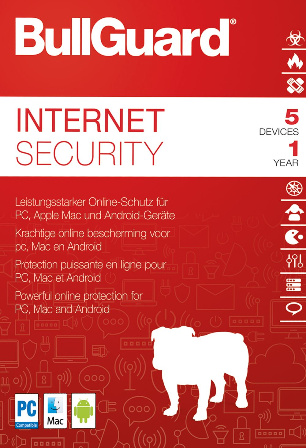 Bullguard Internet Security 2018 - 1 Jahr 5 Geräte