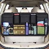 URAQT Kofferbak-organizer auto, opbergtas, kofferbaktas auto, waterdichte tas auto met sterk elastisch net en klittenbandslui