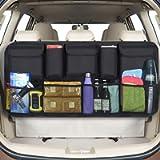 URAQT Car Boot Organiser Waterproof Kick Mats Car Organiser Seat Back Protectors, Multi-Pocket Children's Travel Storage…