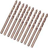 10st M35 koboltborrsats, HSS-CO Twist Jobber-längd för härdad metall, rostfritt stål, gjutjärn 1.0-5.0MM borrsats(3mm)
