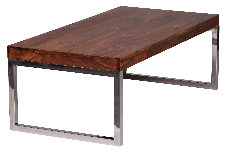 Wohnling Couchtisch GUNA Massiv Holz Sheesham 120 Cm Breit Wohnzimmer Tisch Design Landhaus Stil Beistelltisch Natur Produkt Wohnzimmermbel Unikat Modern