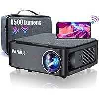 Vidéoprojecteur WiFi Bluetooth Full HD 1080P, 8500 Lumens WiMiUS Rétroprojecteur 1080P Supporte 4K Réglage 4D Fonction…