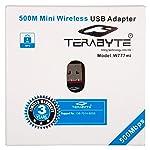 Terabyte Mini 2.4Ghz, 500Mbps Wireless WiFi Adapter(Black)