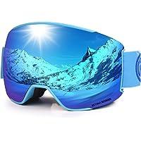 LEMEGO Skibrille Ski Goggles Snowboardbrille Doppel-Sphärisch Linse OTG UV-Schutz Anti-Fog Helmkompatible Schneebrille…