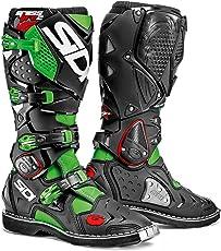 SIDI Crossfire 2 Stivali da Moto, Verde Nero-Fluo, 46