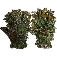 Buding Deerhunter - Guanti 3D Ghillie Suit con foglie mimetiche