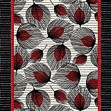 (6,29€/m) Weichschaummatte Antirutschmatte Badezimmermatte Sicherheit Badvorleger Badezimmer WC Meterware - Küche 65cm breite | Farbe : Pfau Feder schwarz rot 442-1