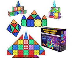Desire Deluxe Set Tessere magnetiche - Gioco Educativo per Bambini e Bambine - età 3 4 5 6 7 Anni - Impara con Le Costruzioni