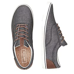 JACK JONES Jfwvision Chambray Mix SS Anthracite Zapatillas para Hombre