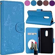 Xiaomi Redmi Note 4 Case, Meroollc Xiaomi Redmi Note 4 Skins Folio Flip Cover Accessories Slim Shell for Xiaomi Redmi Note 4 (Blue)