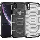 Restoo Custodia protettiva militare compatibile con iPhone XR, resistente agli urti (nero)