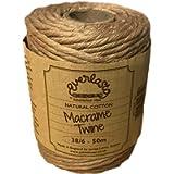 50M Spools - Everlasto Single Twist Soft Cotton Coloured Macrame Craft Twine 38/6 (4mm Approx) (Apricot)