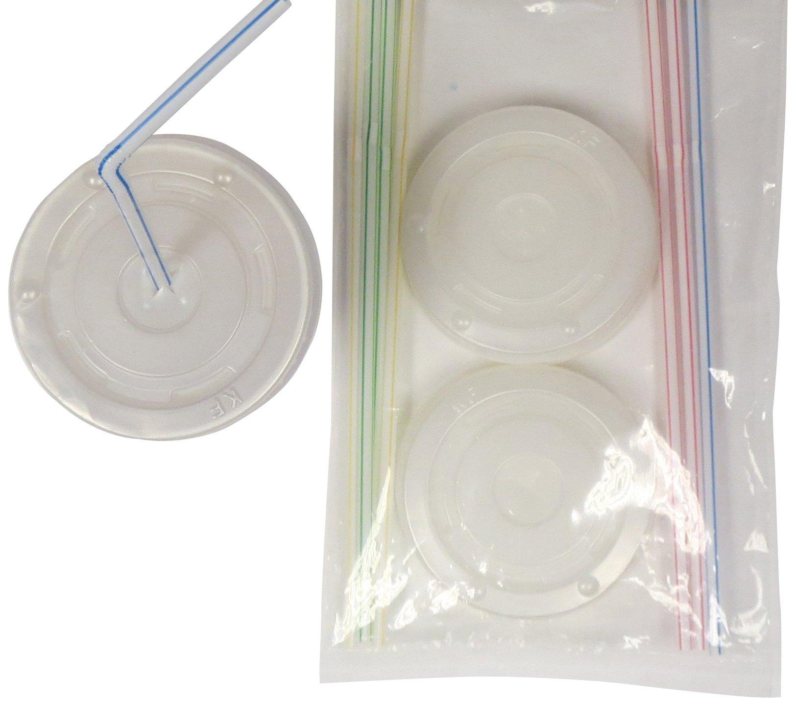 Amscan 4 tazze coperchi e cannucce