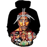 HUIZE Hip Hop Rap 2Pac Felpa con Cappuccio da Uomo E da Donna Felpa con Cappuccio Tupac Felpa con Cappuccio Casual da…