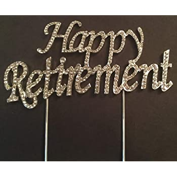Personalised Happy Retirement Cake Topper Decoration with ...