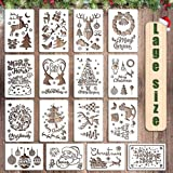 Pochoirs de Noël, pochoirs de dessin, pochoirs de peinture en plastique, pochoirs de Noël réutilisables, cartes-cadeaux de br