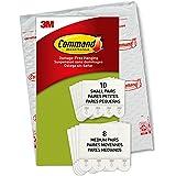 Command Kleine en middelgrote ophangstrips, verpakking met 4 x 2 fotohangers, maat S en M, wit, lijst en poster, muurstickers
