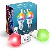 Innr WiFi Bulb White & Color E27, werkt met Alexa & Hey Google (geen bridge nodig), Dimbaar LED, RGBW Smart Bulb, 16 miljoen