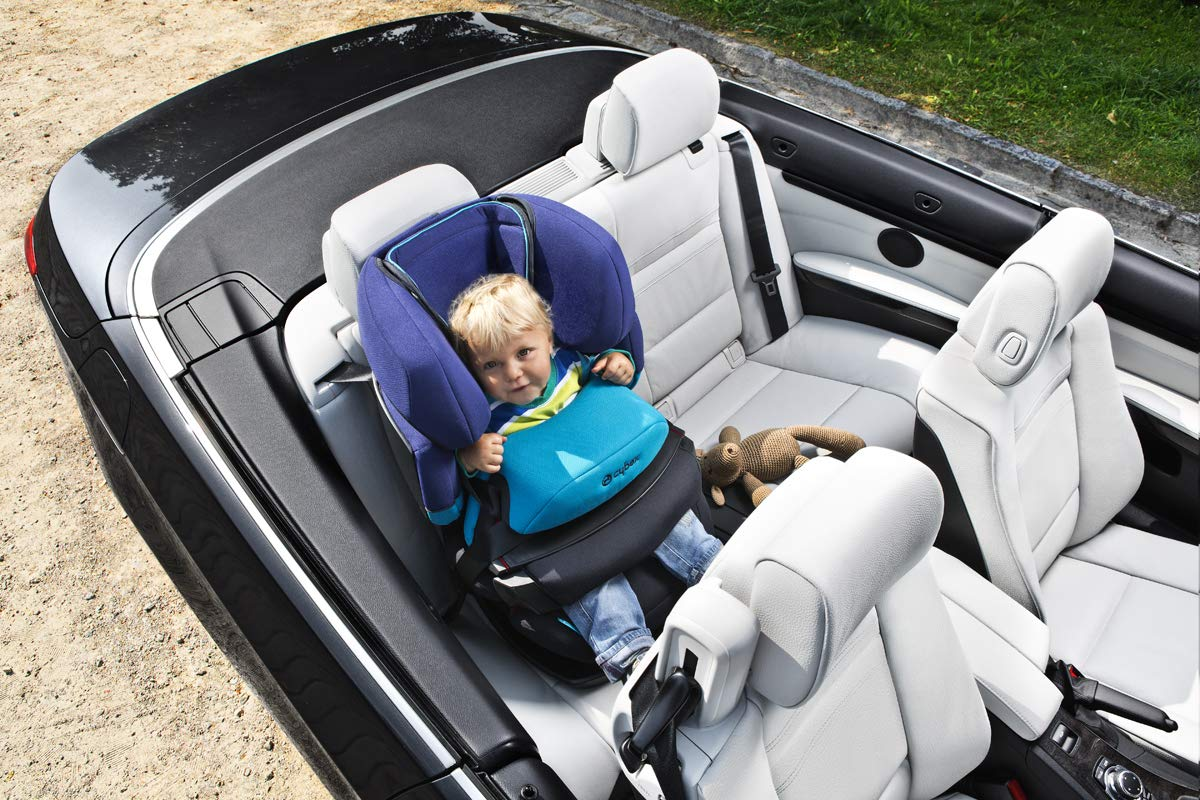 CYBEX Silver Pallas 2-in-1 Child's Car Seat, Group 1/2/3 (9-36 kg), From approx. 9 Months to approx. 12 Years, Cobblestone Cybex Sturdy and high-quality child car seat for long-term use - For children aged approx. 9 months to approx. 12 years (9-36 kg) Maximum safety - Depth-adjustable impact shield, 3-way adjustable reclining headrest, Built-in side impact protection (L.S.P. System) 11-way height-adjustable comfort headrest, One-hand adjustable reclining position, Easy conversion to Solution X-Fix for children from 3 years (group 2/3) by removing impact shield and base, Adjustable backrest 8