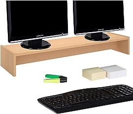 Hervorragend CARO Möbel Monitorständer Zoom Für 2 Monitore Bildschirmerhöhung  Schreibtischaufsatz Tischaufsatz 100 X 15 X 27