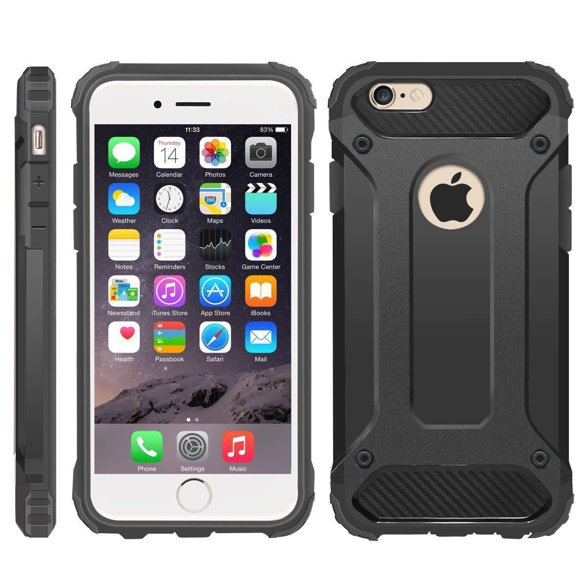 iPhone 6 Case, iPhone 6S Cover, Military-Duty Case – Impact Resistant Hybrid Heavy Duty [armor case] Dual Layer Armor Hard Plastic And Bumper Protective [SHOCKPROOF] Case