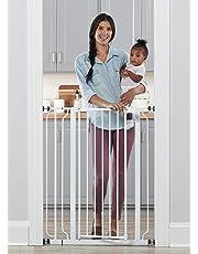Regalo Easy Step Walk Thru Baby Safety Gate Pressure Mount, White
