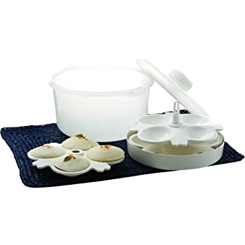 Signoraware Microwave Cooker Set, 3 Litres, 7-Pieces, White