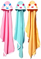 BRANDONN Newborn Original 3PCS. Big Size (36 X 27) Cute Baby Blankets for Babies (C-Green, Peach, Pink; Pack of 3)