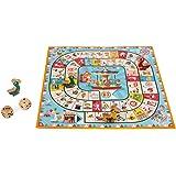 Janod - Gioco dell'oca con giostra, gioco familiare, statuette di legno, per bambini dai 4 anni in su, J02743