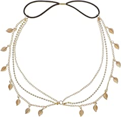 Habors gold plated Hair Chain For Women (Gold) (Valentine Gift)