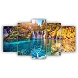 Alura Art N Frames Set Of 5 Modern Art Nature Scenery 5D Self Adeshive Uv Coated Painting For Wall For Home Décor Decortation